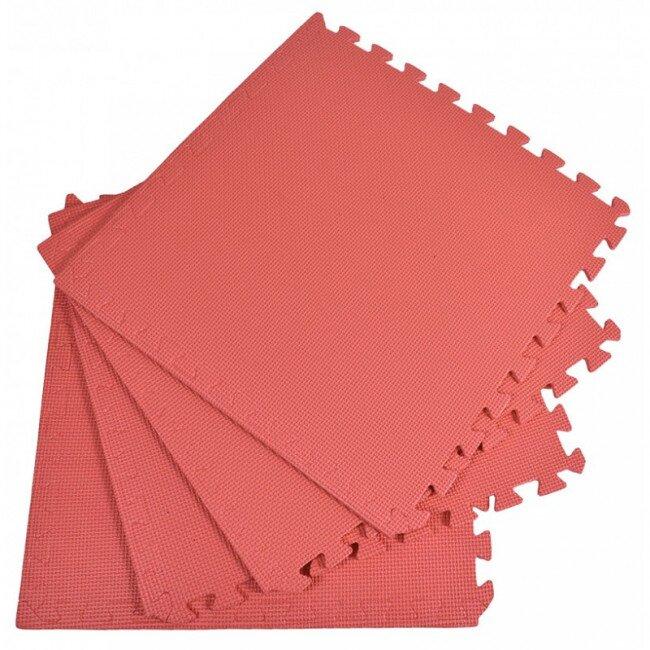 Pěnový koberec jednobarevný, červený