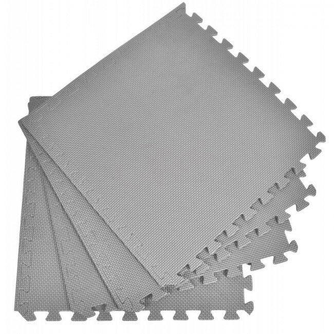 Pěnový koberec jednobarevný, šedý