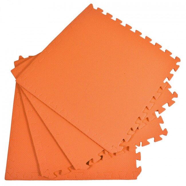 Pěnový koberec jednobarevný, oranžový