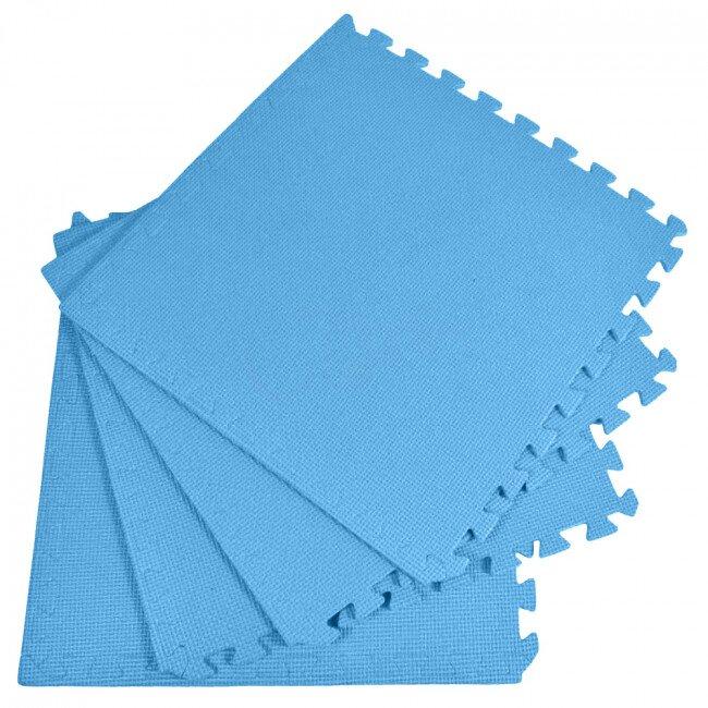 Pěnový koberec jednobarevný, modrý