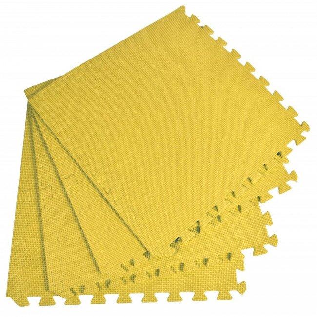 Pěnový koberec jednobarevný, žlutý