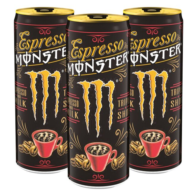 3x Espresso Monster Milk Energy Drink (à 250 ml)