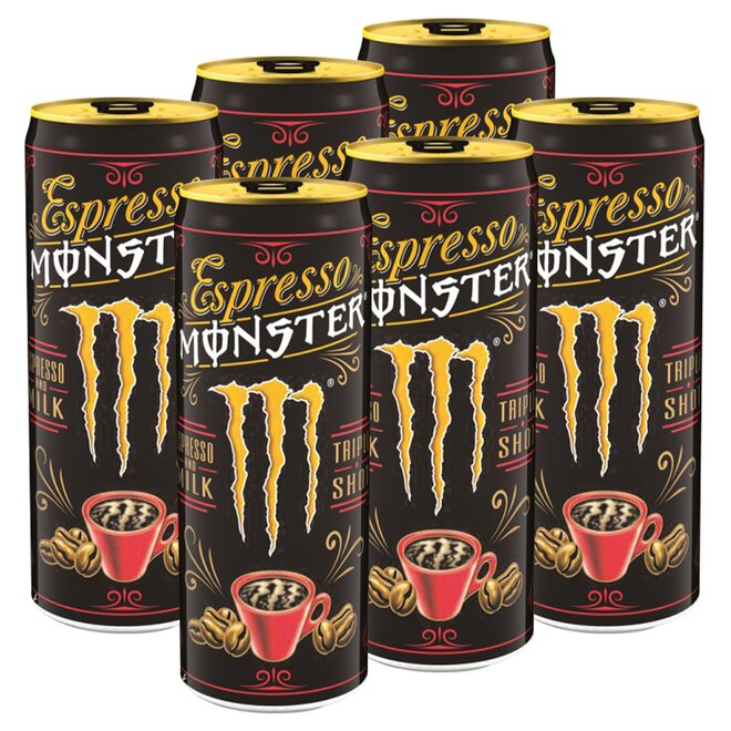 6x Espresso Monster Milk Energy Drink (à 250 ml)