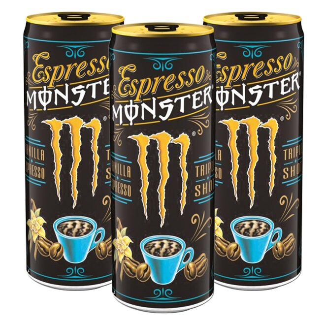 3x Espresso Monster Vanilla Energy Drink (à 250 ml)