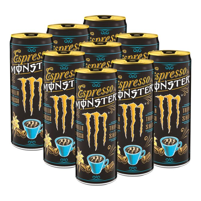 9x Espresso Monster Vanilla Energy Drink (à 250 ml)