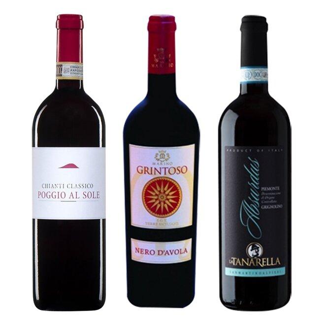 Set 3 lahví červeného vína