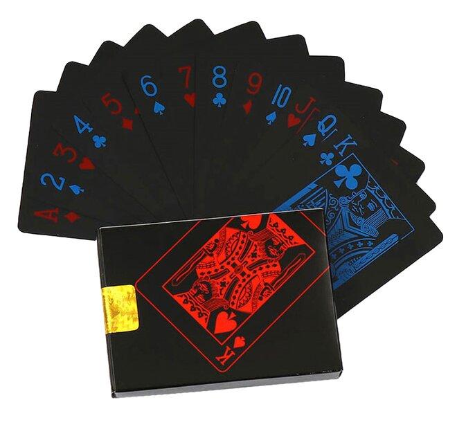 Balíček karet - modročervené