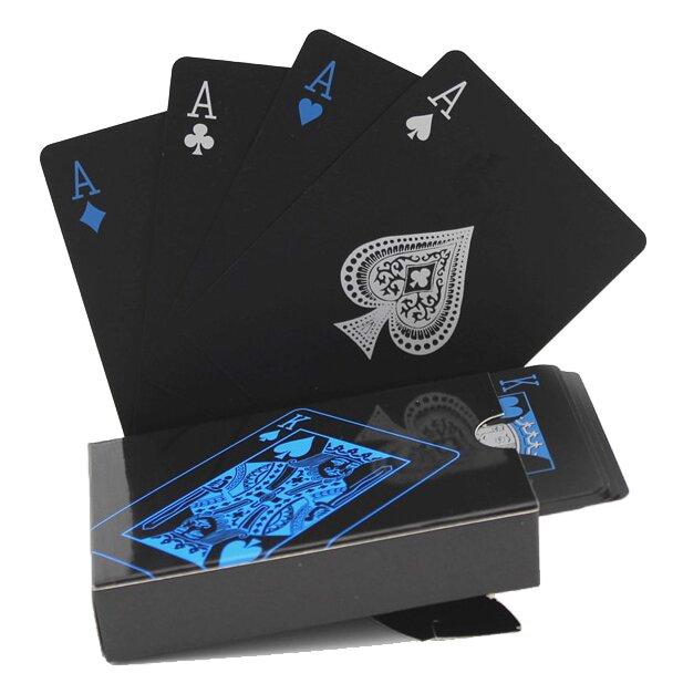 Balíček karet - modrostříbrné