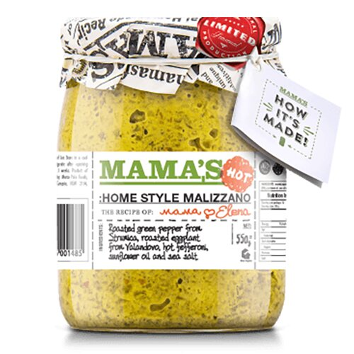 Zelený ajvar Malizzano – pikantní (550 g)