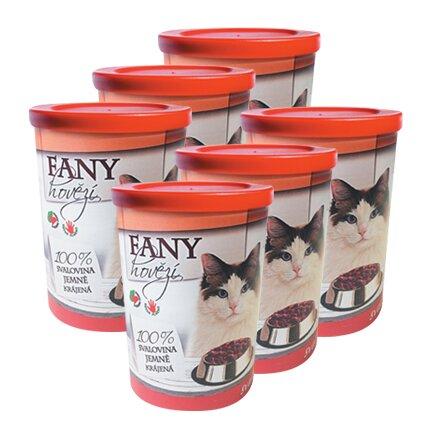 Pro kočky: 6× Fany hovězí, 400 g