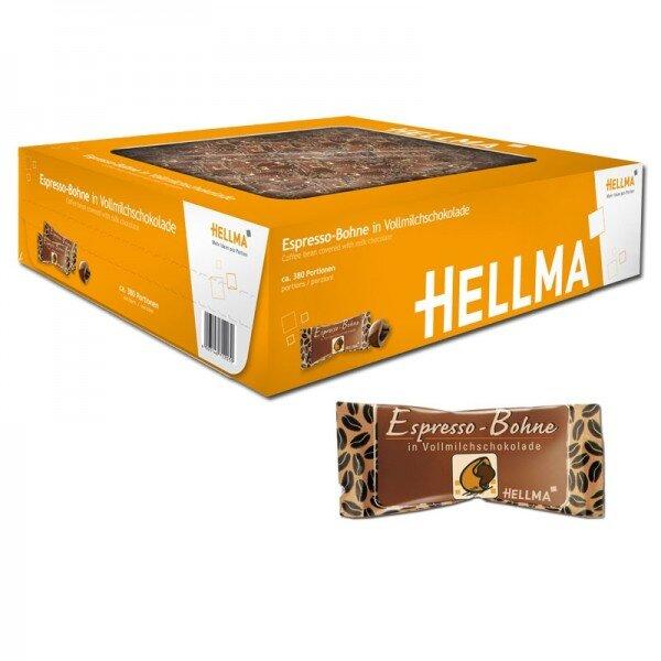 Hellma espresso v mléčné čokoládě - 380 ks