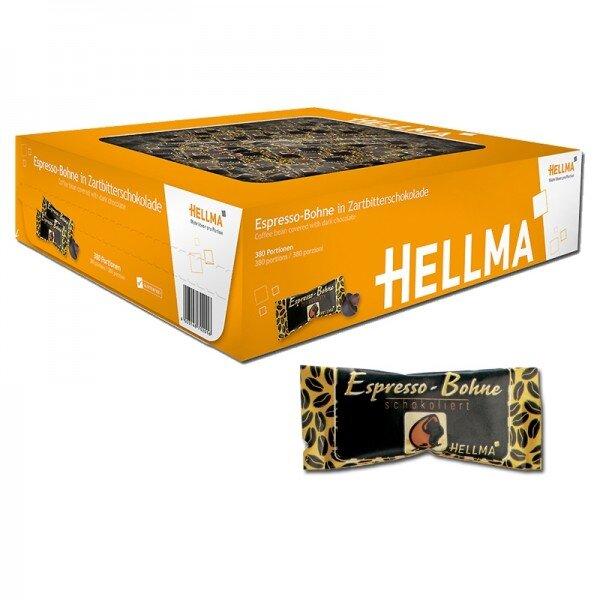 Hellma espresso v tmavé čokoládě - 380 kusů