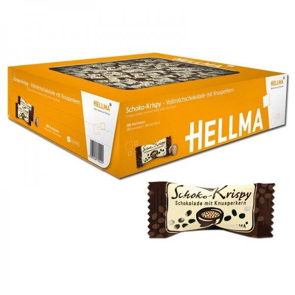 Hellma křupavá mléčná čokoláda - 380 kusů