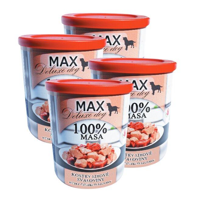 Pro psy: 4x Max kostky libové svaloviny, à 800 g