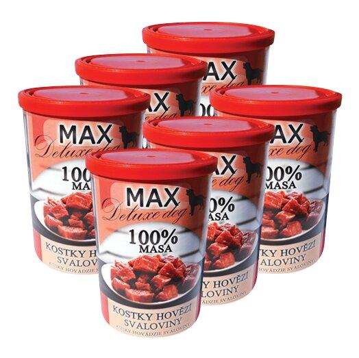 Pro psy: 6x Max kostky hovězí svaloviny, à 400 g