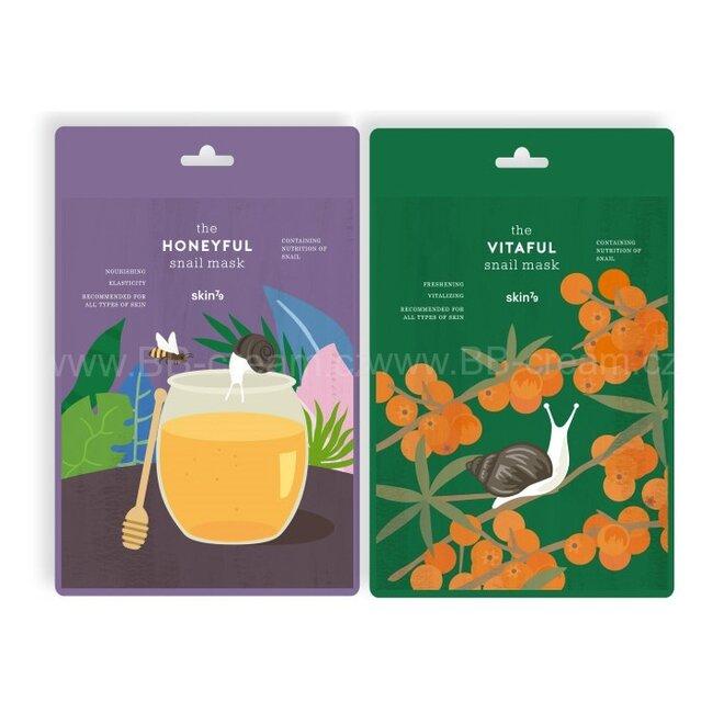 2x pleťová maska s výtažkem ze šnečího slizu: Honeyful + Vitaful