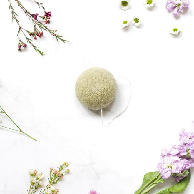 Konjaková houbička - zelený čaj