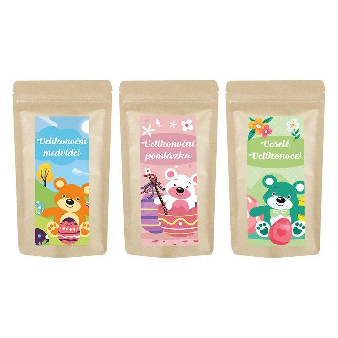 3× 250 g originálních čajových medvídků