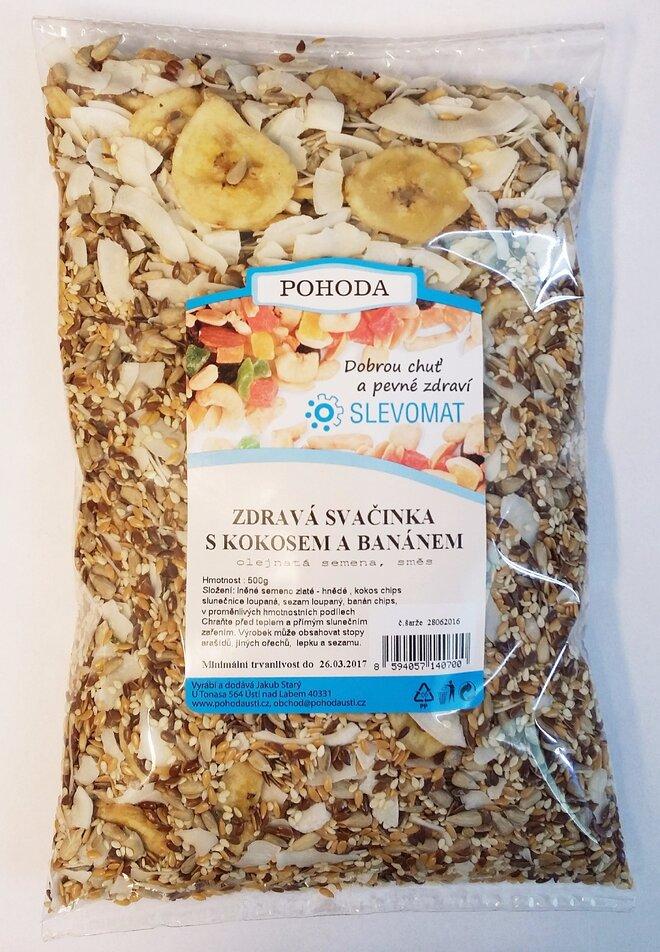 Zdravá svačinka - S kokosem a banánem, 500 g
