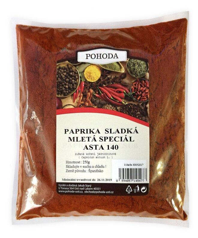 Paprika sladká ASTA 140, 250 g
