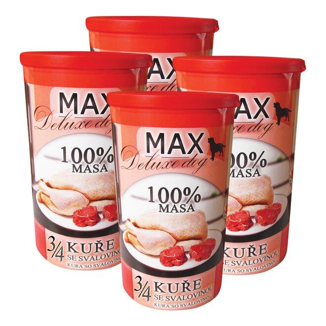 Pro psy: 4x Max 3/4 kuřete se svalovinou, à 1200 g