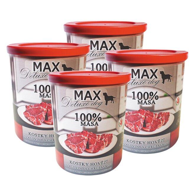 Pro psy: 4x Max kostky hovězí svaloviny s chrupavkou, à 800 g