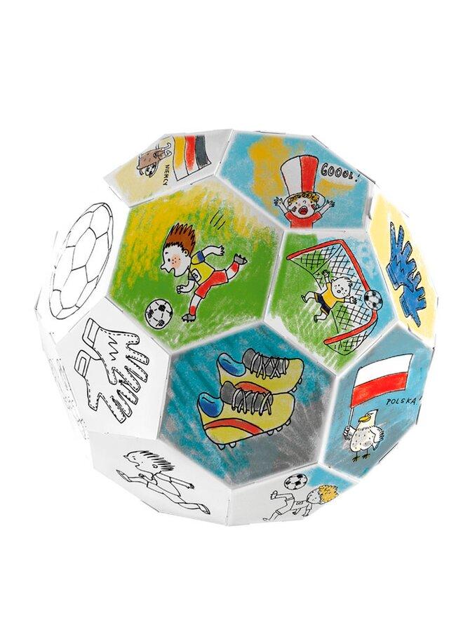 Skládací fotbalový míč k vymalování