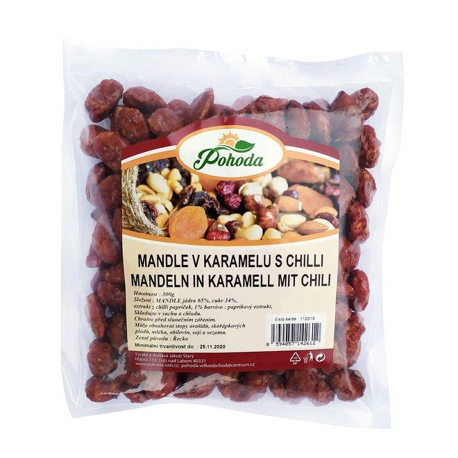 Mandle v karamelu s chilli, 300 g