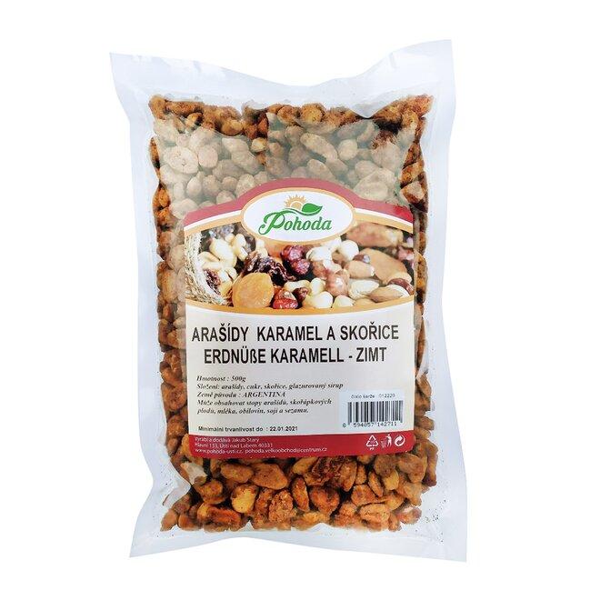 Arašídy v karamelu a skořici, 500 g