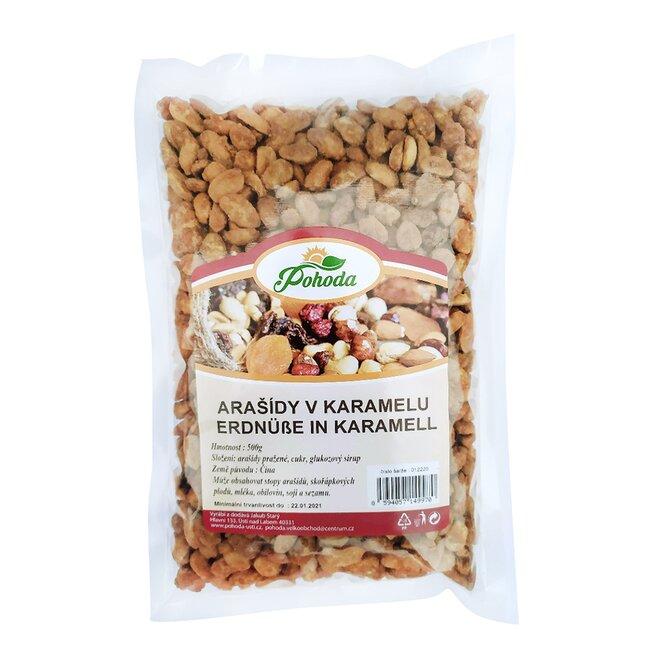 Arašídy v karamelu, 500 g