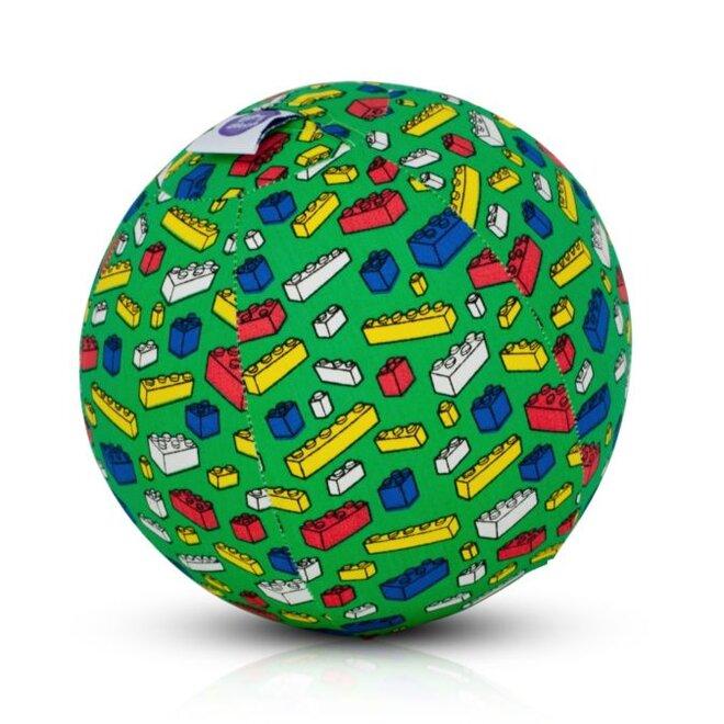 Buba Bloon - míč zelený s barevnýma kostkama