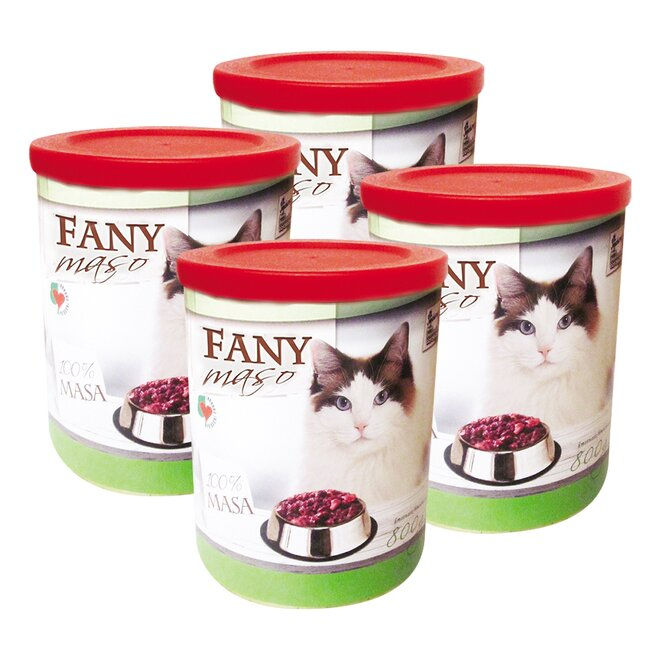 Pro kočky: 4× Fany maso, 800 g