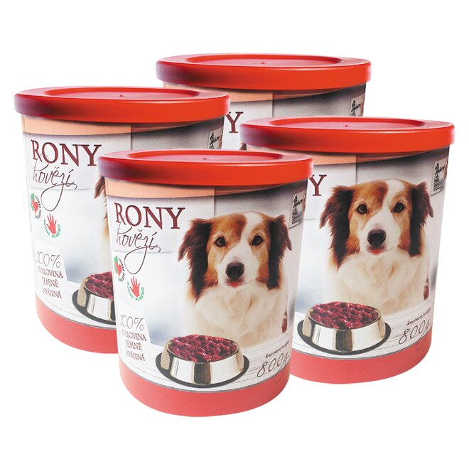 Pro psy: 4× Rony hovězí, 800 g