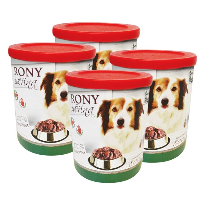 Pro psy: 4× Rony zvěřina, 800 g