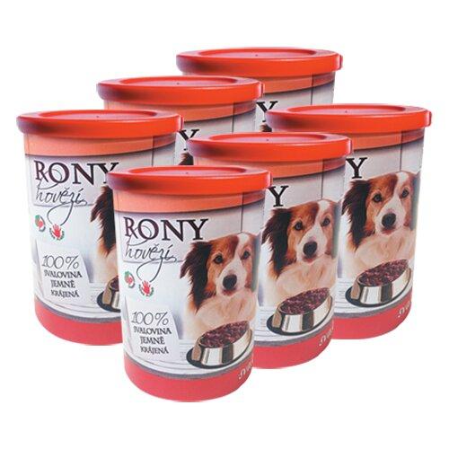 Pro psy: 6× Rony hovězí, 400 g