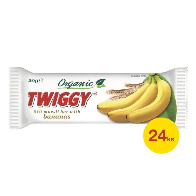 24× Twiggy bio müsli tyčinka s banány