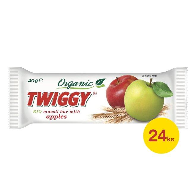 24× Twiggy bio müsli tyčinka s jablky