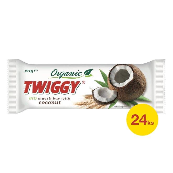 24× Twiggy bio müsli tyčinka s kokosem