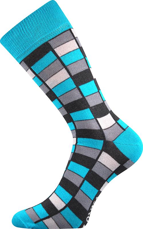 Ponožky - Mozaika modrá