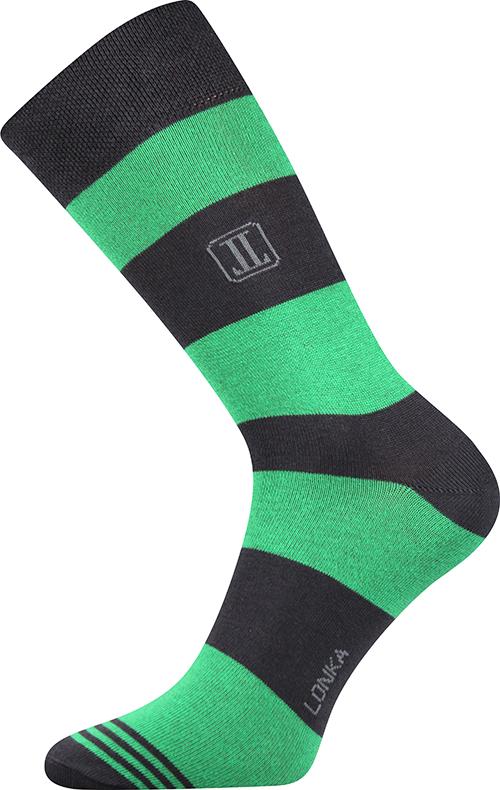 Ponožky - Pruhy zelené