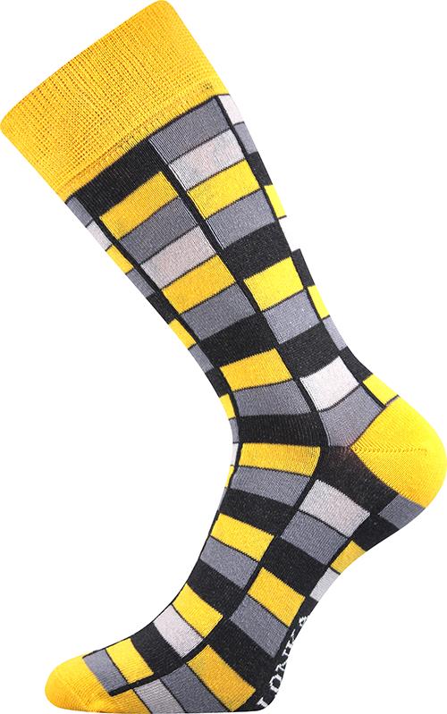 Ponožky - Mozaika žlutá