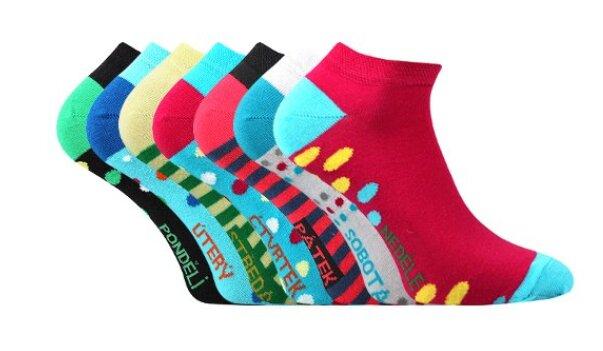Ponožky nízké - Week (na každý den v týdnu)