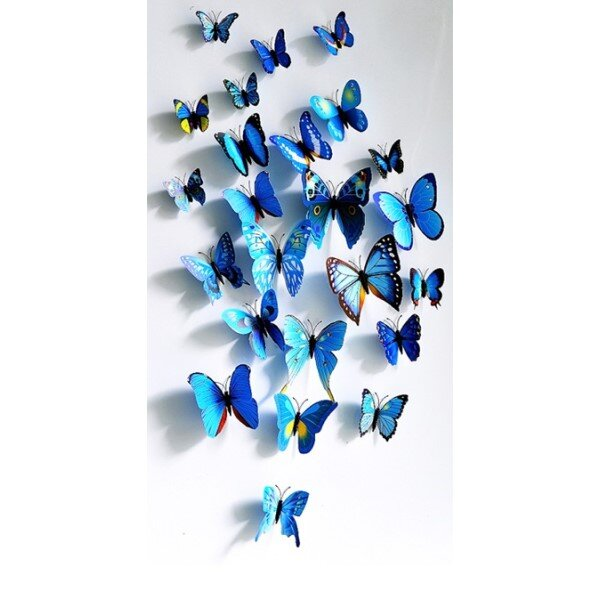 3D motýlci - 12 ks
