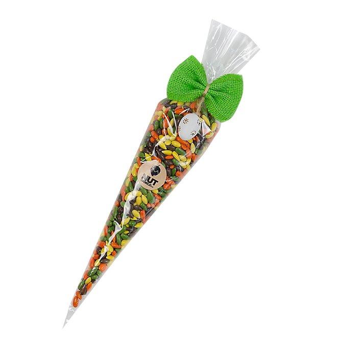 Velikonoční kornout slunečnic v barevné krustě (230 g)
