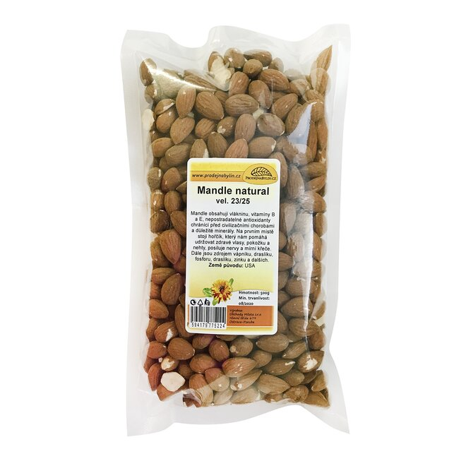 Mandle natural, 500 g