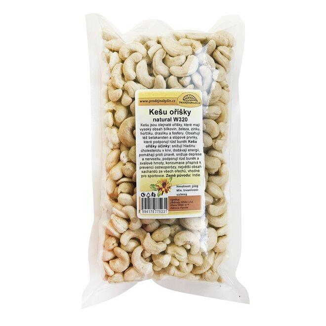 Kešu ořechy natural, 500 g