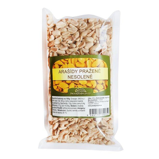 Arašídy pražené nesolené, 500 g