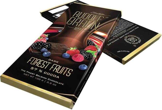 Hořká čokoláda s lesním ovocem, 57 % kakaa