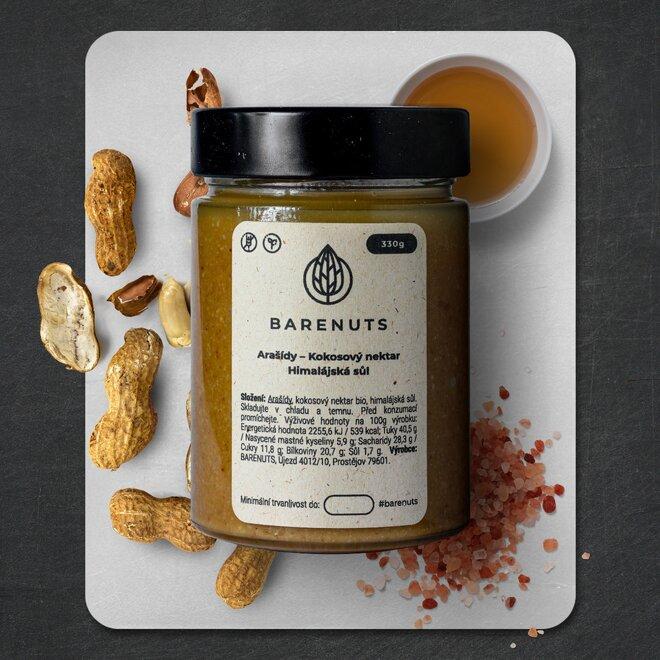 Slaný karamel (arašídy, kokosový nektar a himalájská sůl), 330 g