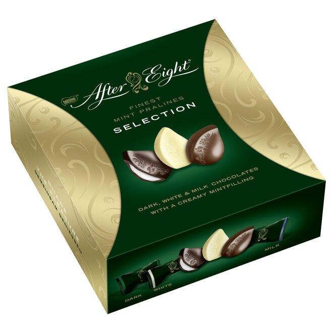 After Eight výběr mátových pralinek (hořká, mléčná a bílá čokoláda), 122 g